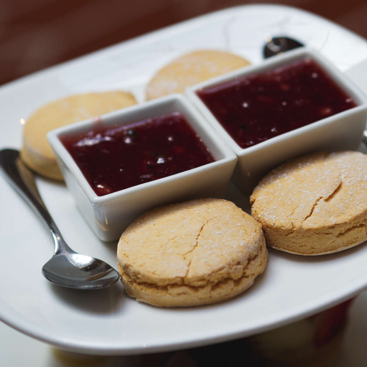 Vegan scones at The Waldorf Astoria, Edinburgh