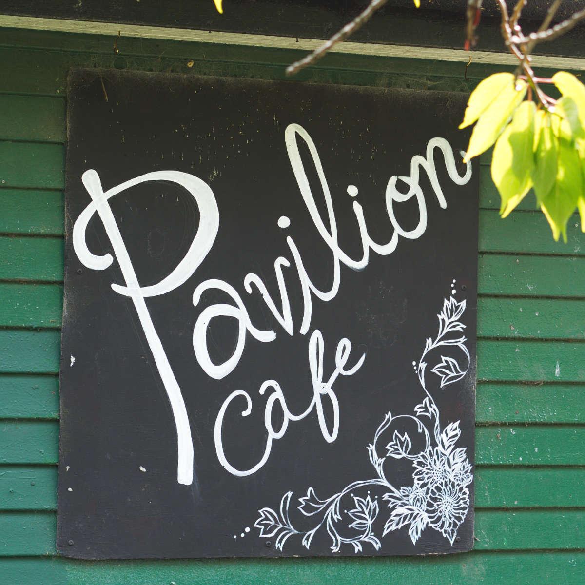 Pavilion cafe sign