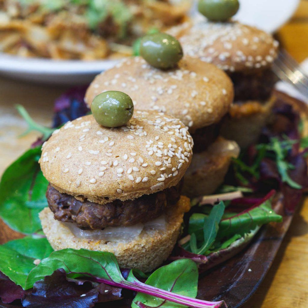 Vegan sliders at Hendersons Vegan, Edinburgh