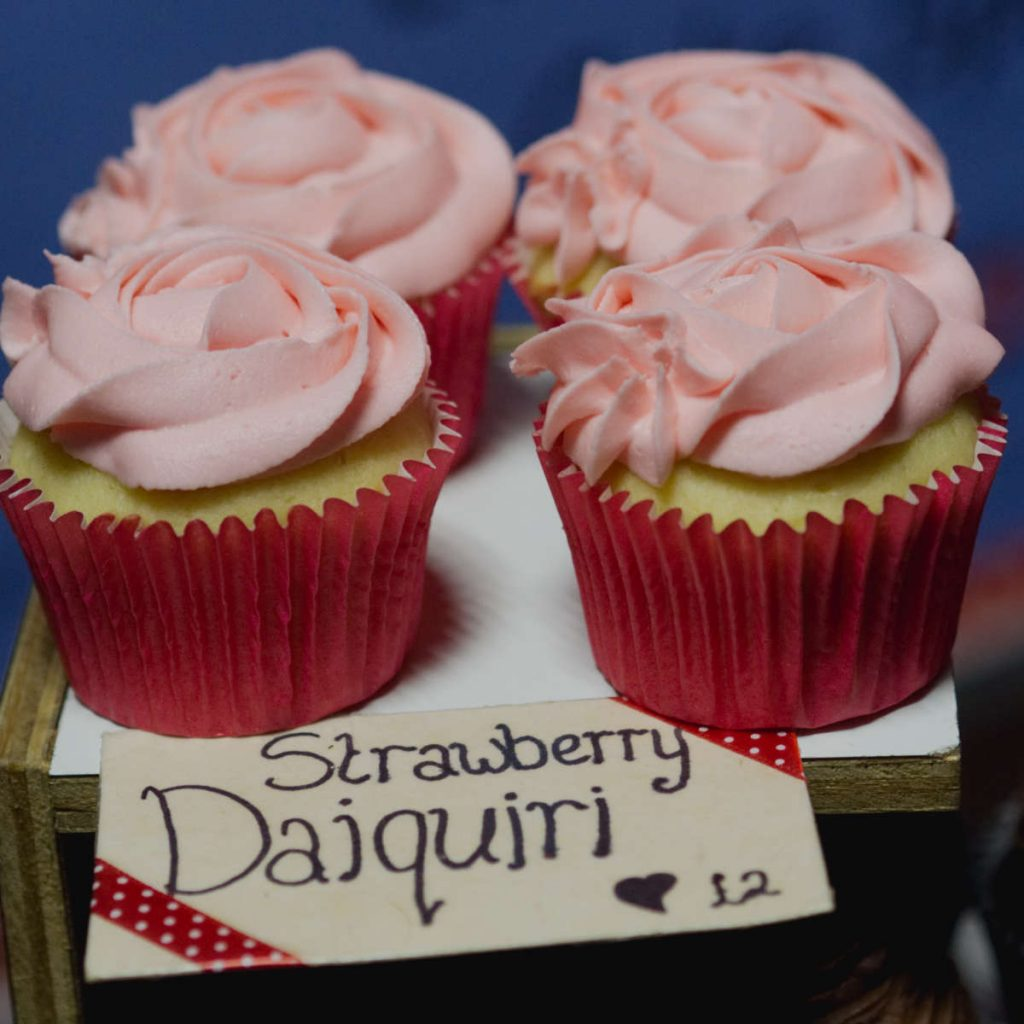 Vegan strawberry daiquiri cupcakes by Missys Vegan cupcakes