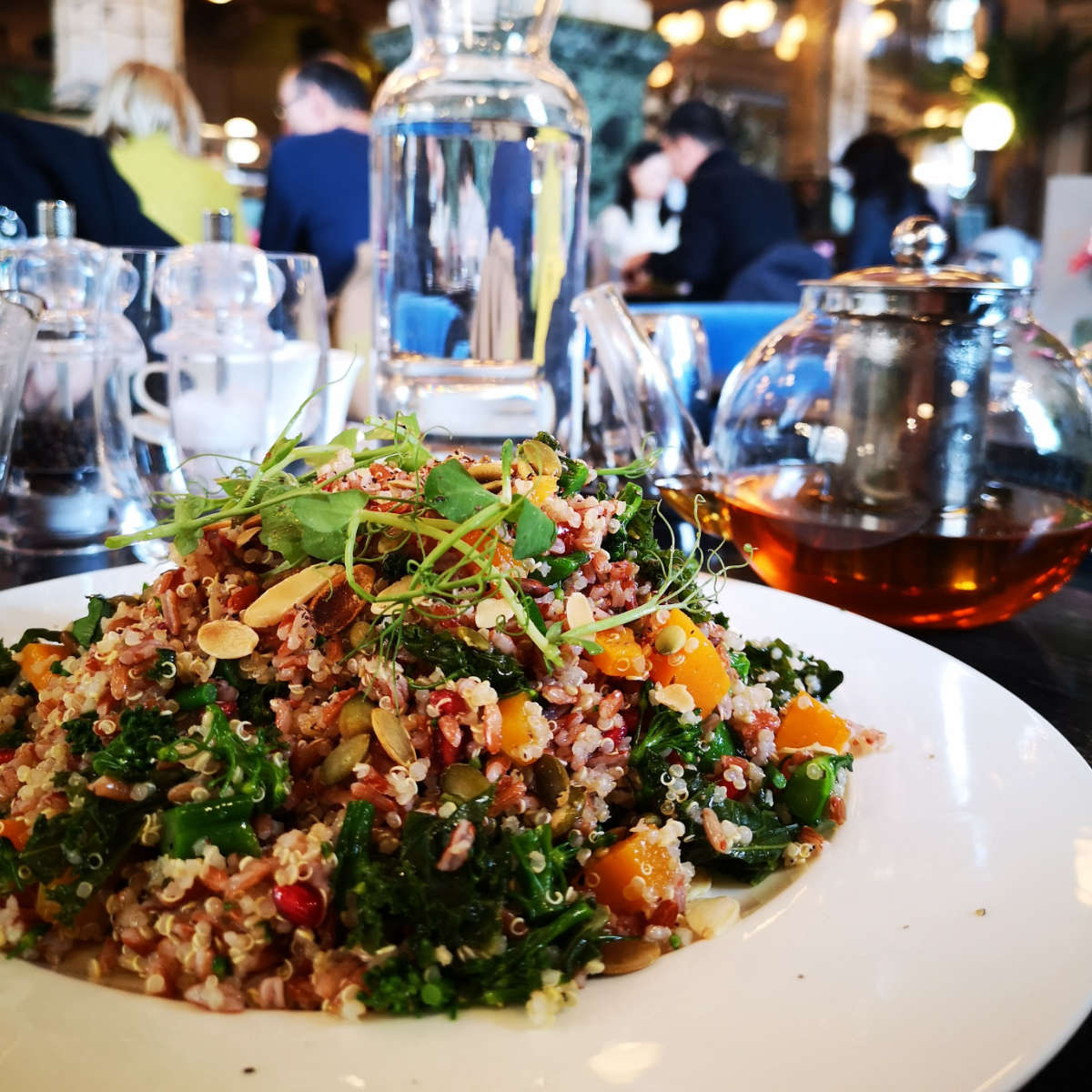Vegan superfood salad at The Grand Cafe, Edinburgh