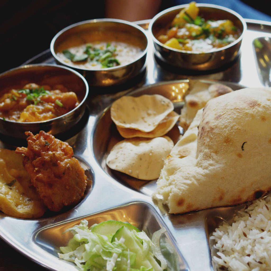 Vegan thali at Annakut, Edinburgh