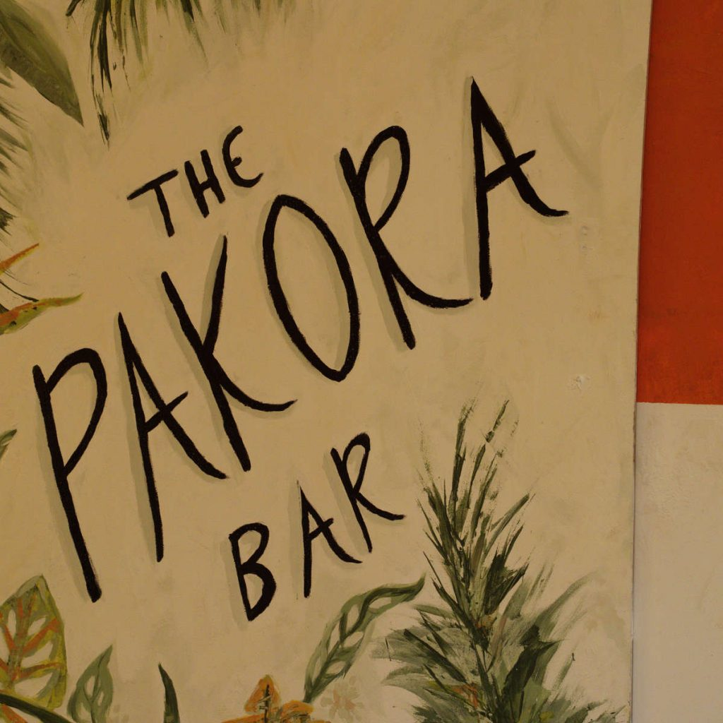 Sign at The Pakora Bar, Edinburgh