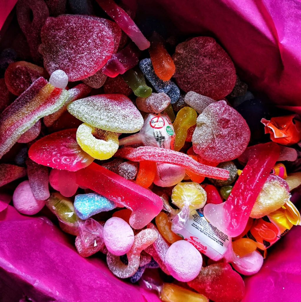 Colourful sweeties by the Vegan Sweetie Company