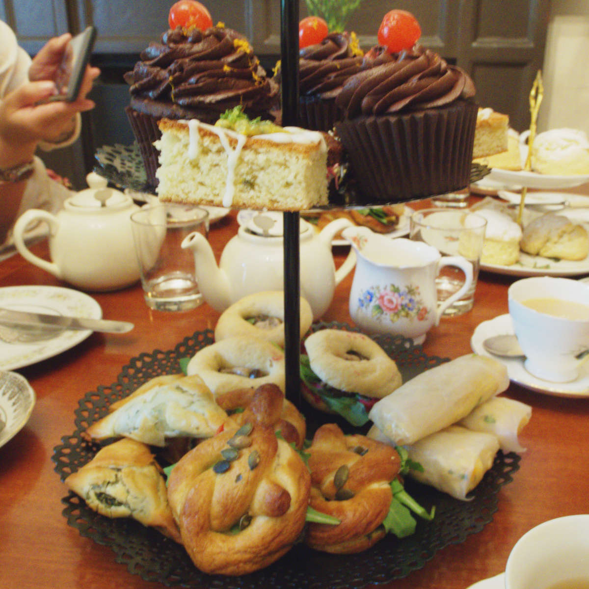 Vegan afternoon tea at Casa Angelina, Edinburgh