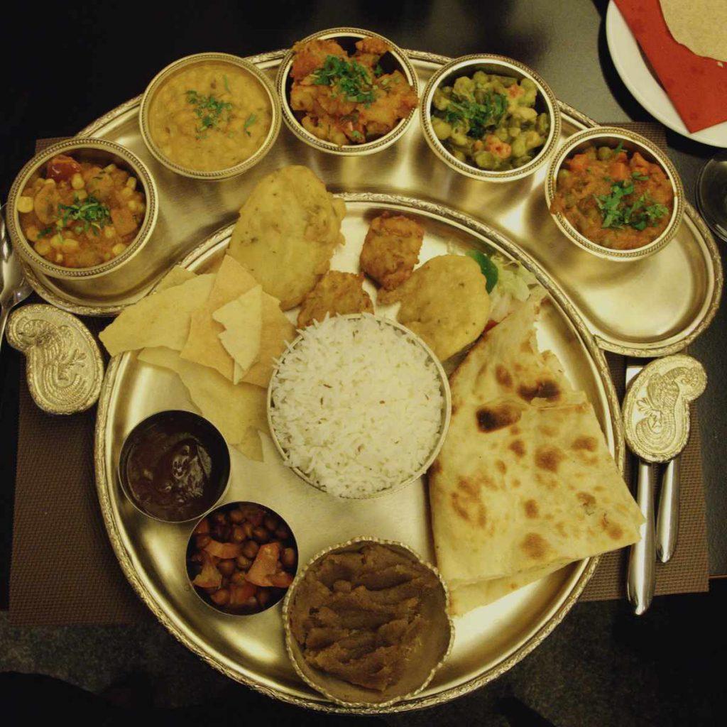 Vegan thali at Kalpna, Edinburgh