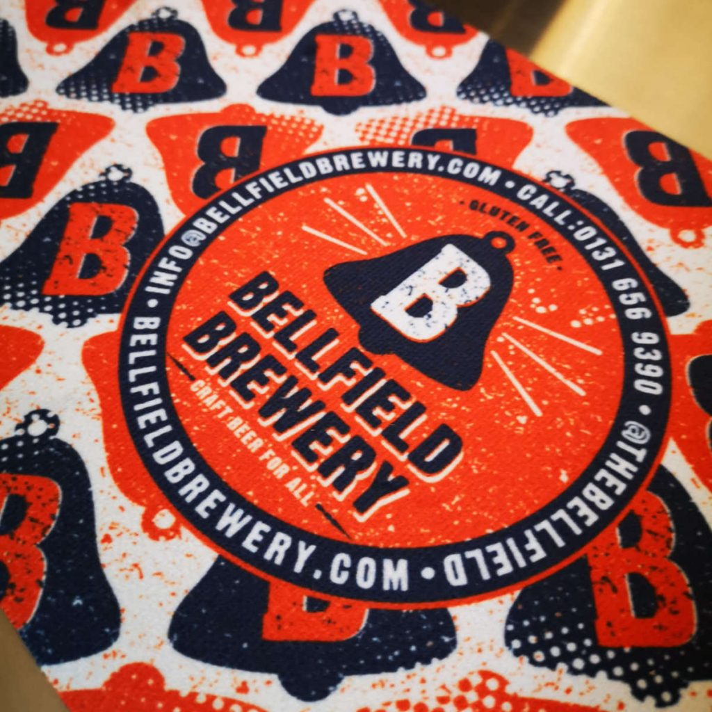 Bellfield Brewery Taproom, Edinburgh beermat
