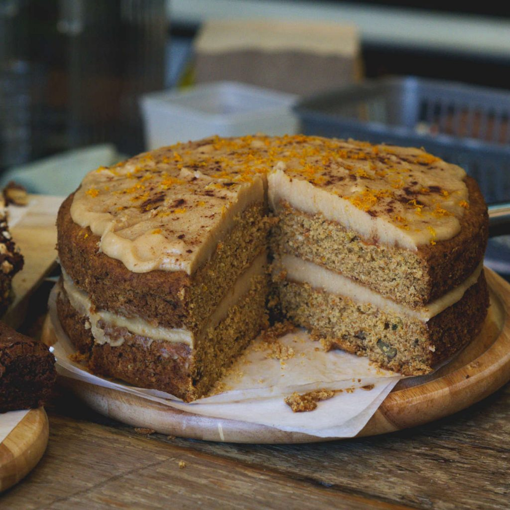 Vegan carrot cake at 305 Leith Walk, Edinburgh