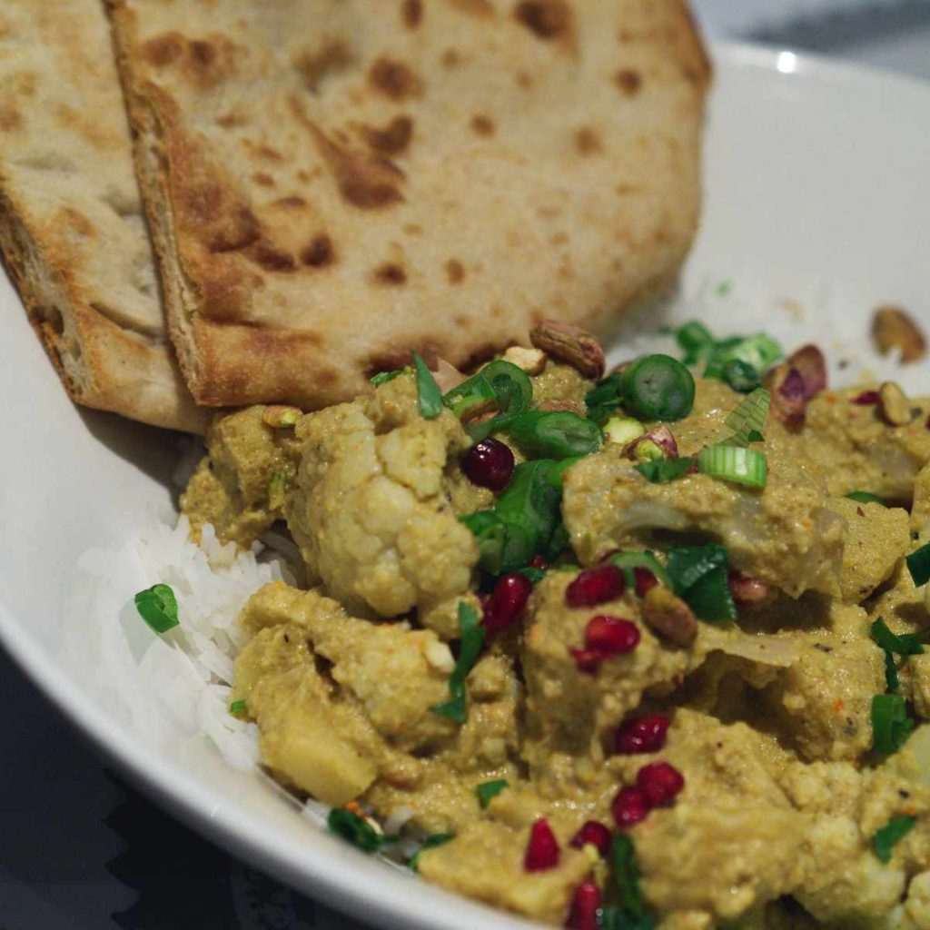 Vegan cauliflower curry at Filmhouse Café Bar, Edinburgh