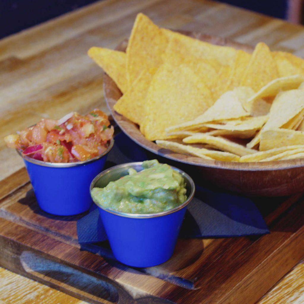 Vegan chips and dip at Illegal Jacks, Edinburgh