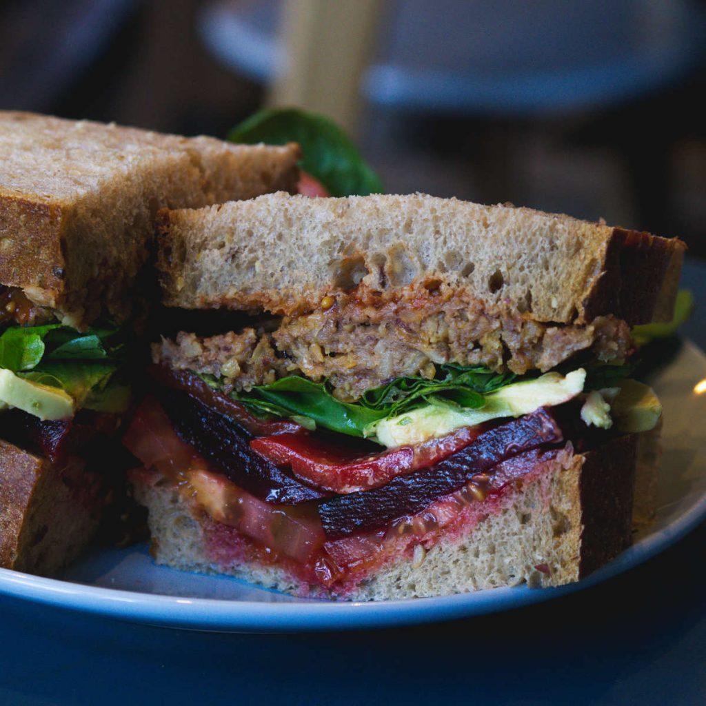 The vegan club sandwich at 305 Leith Walk, Edinburgh