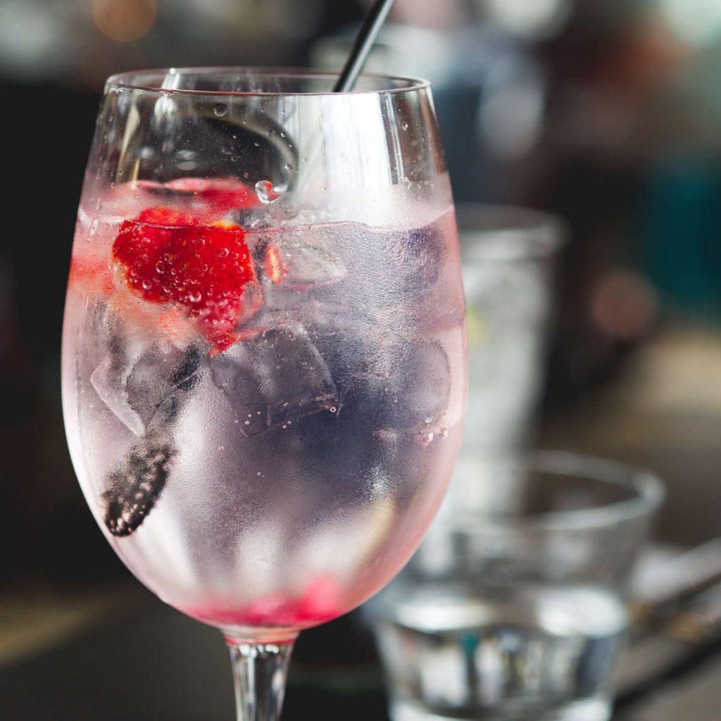 Vegan gin and tonic at Chez Mal, Malmaison, Edinburgh