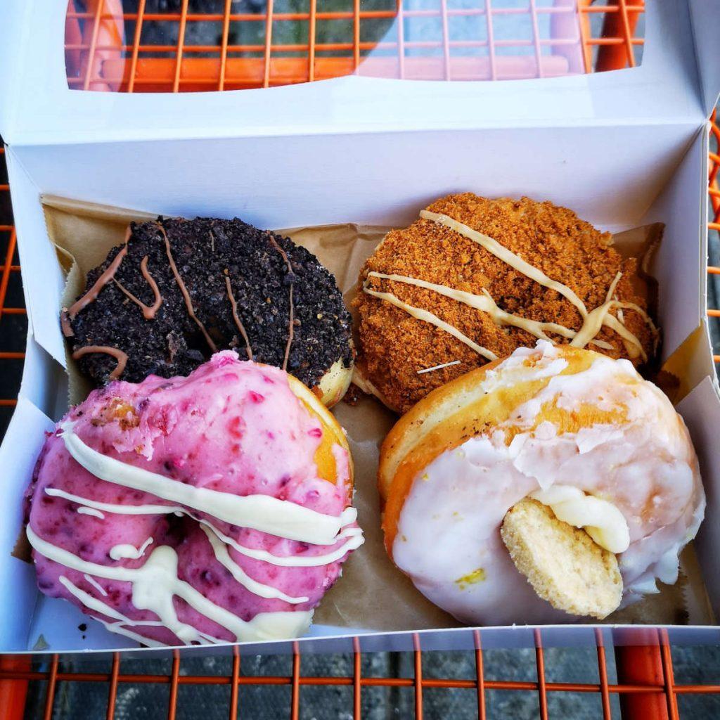A box of vegan doughnuts from Considerit, Edinburgh