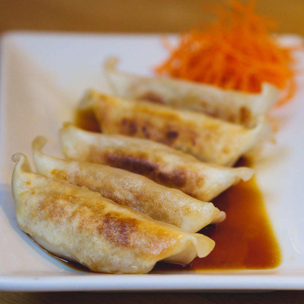Vegan dumplings at Maki Ramen, Edinburgh