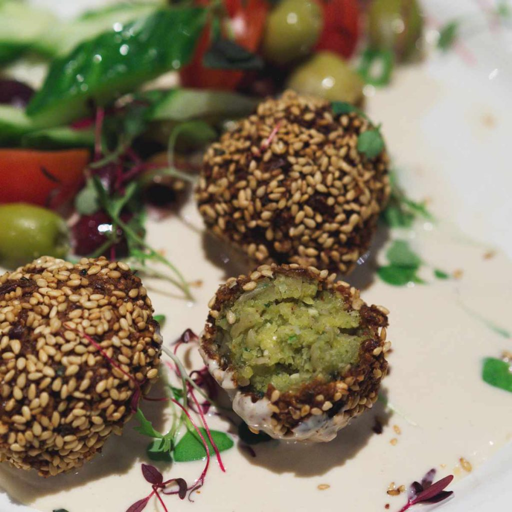 Vegan falafel at Filmhouse Café Bar, Edinburgh