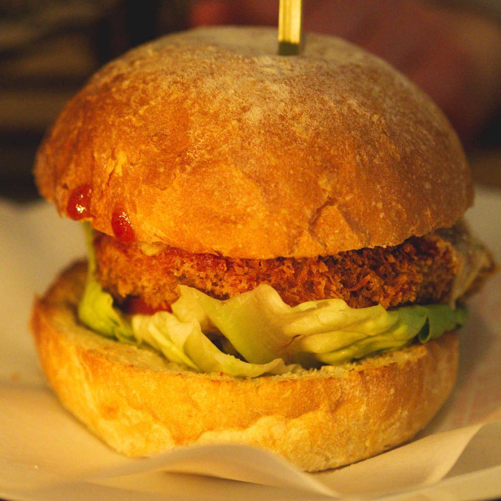Vegan hippie burger at the Lioness of Leith, Edinburgh