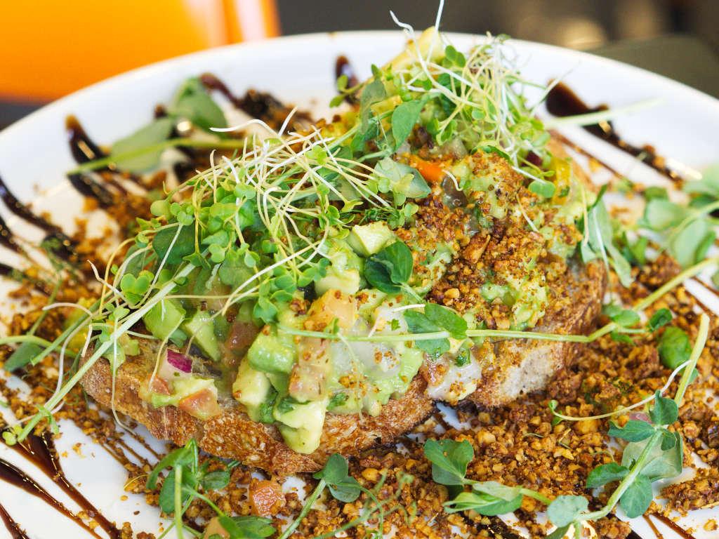Vegan avocado toast at Grams, Edinburgh