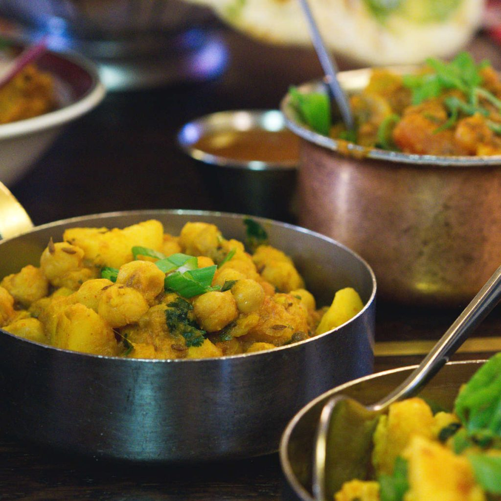 Vegan food at Mother India Café, Edinburgh