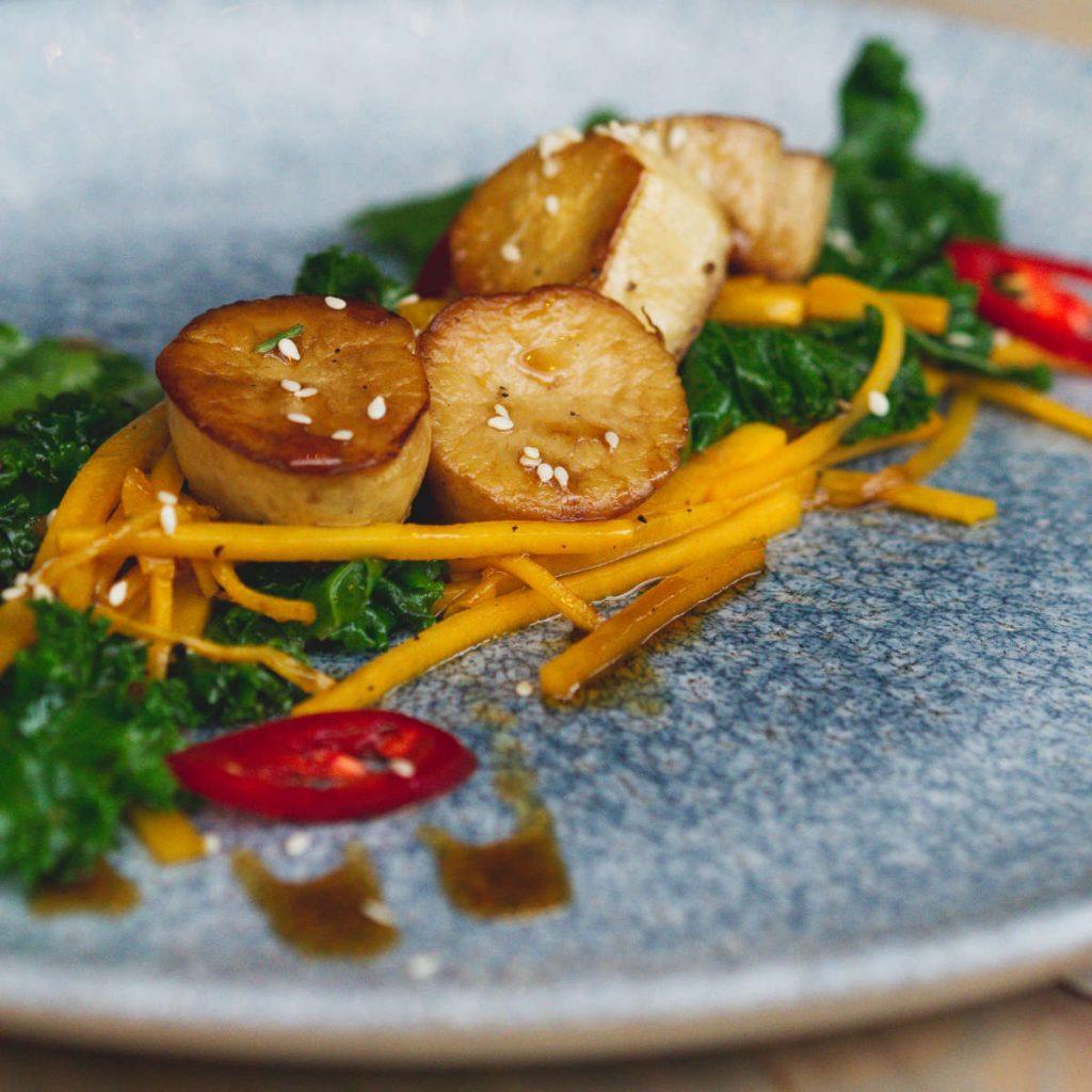 Vegan scallops at Vesta, Edinburgh