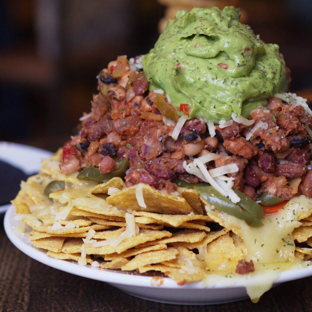 Vegan nachos at Auldo Hoose Edinburgh