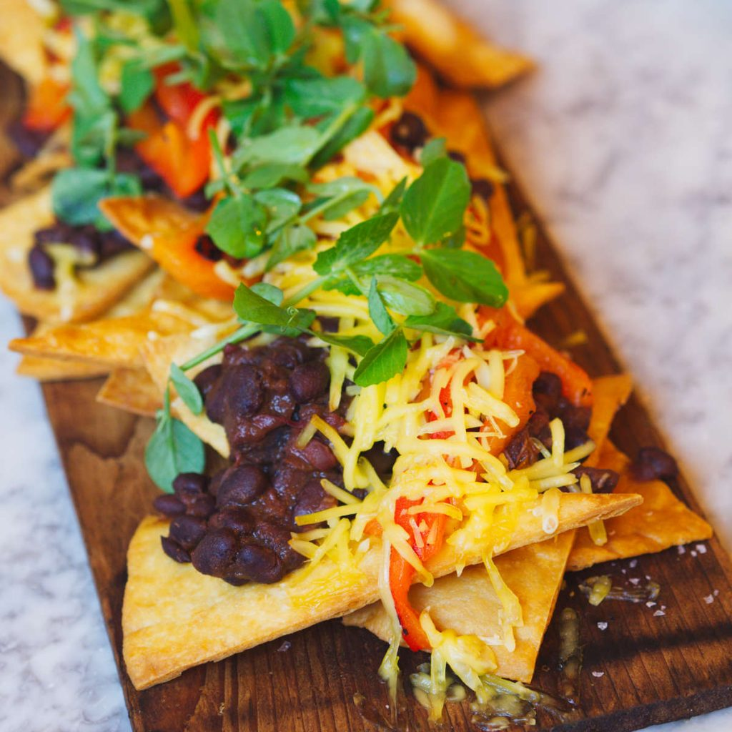 Vegan Nachos at Rabble, Edinburgh