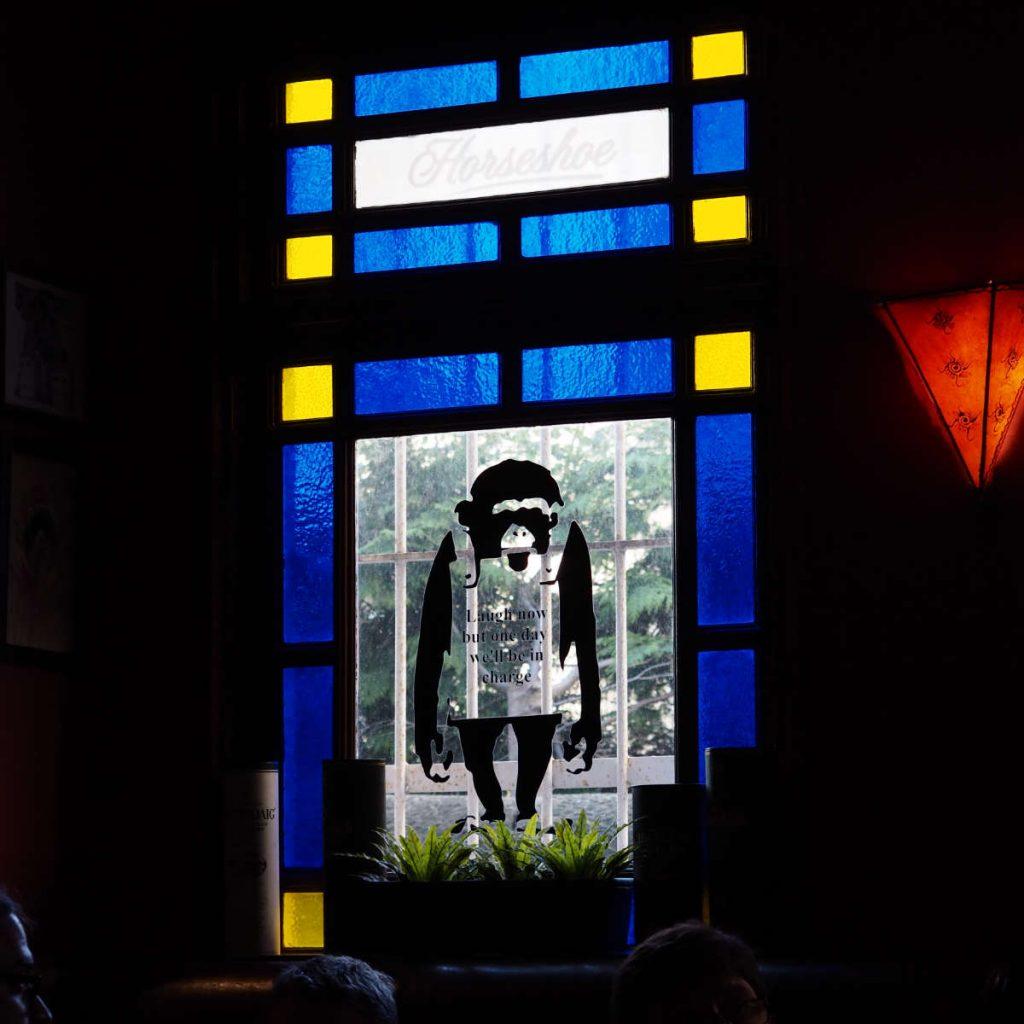 Window at Brass Monkey, Edinburgh