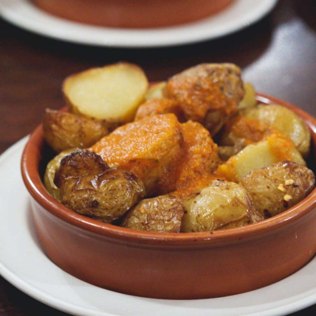 Vegan patatas bravas at Café Andaluz, Edinburgh