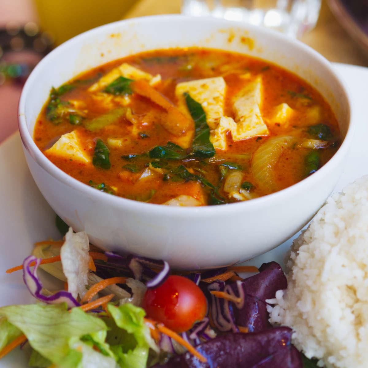 Penang curry at Himalaya Centre, Edinburgh