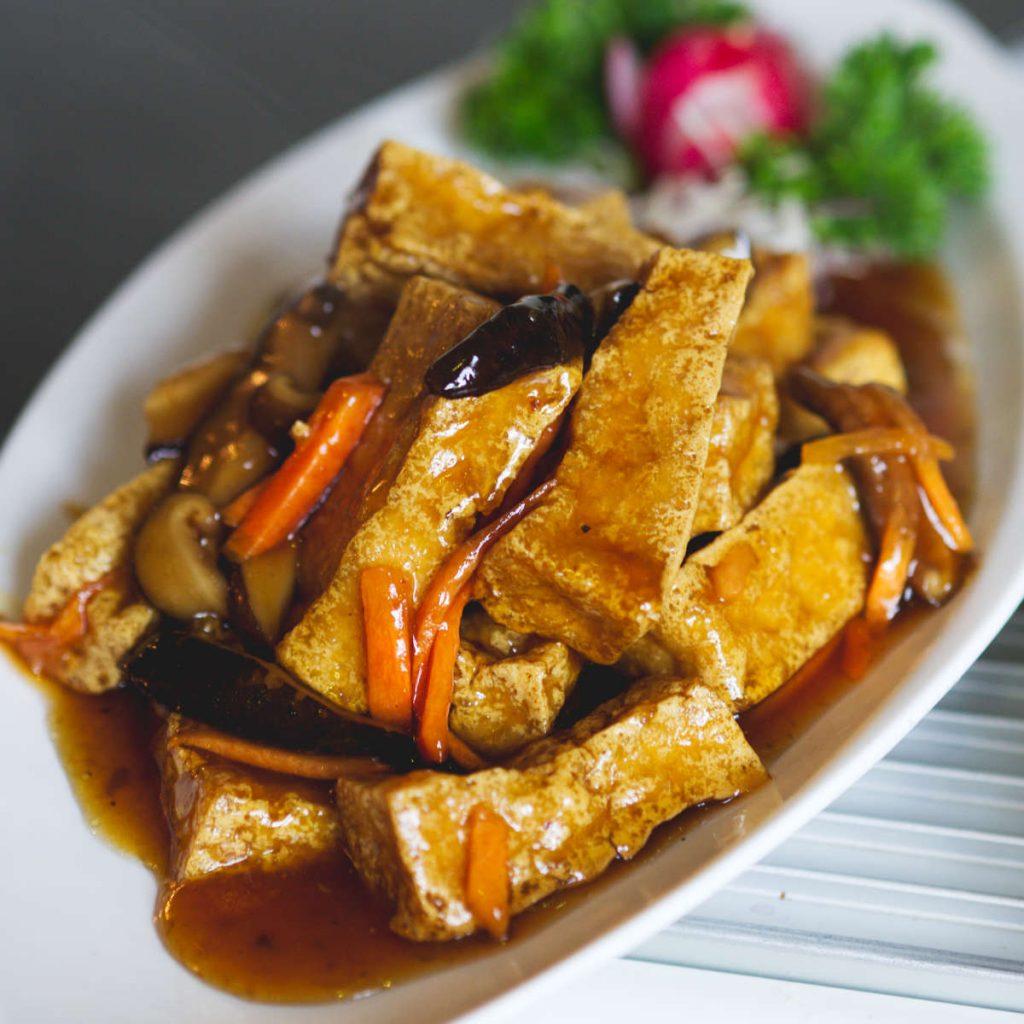 Vegan plum tofu at Chinese Manor House, Edinburgh