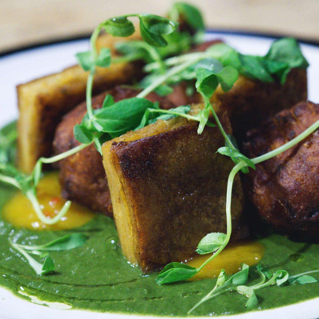 Vegan potato bhaiji at No.1 The Grange, Edinburgh