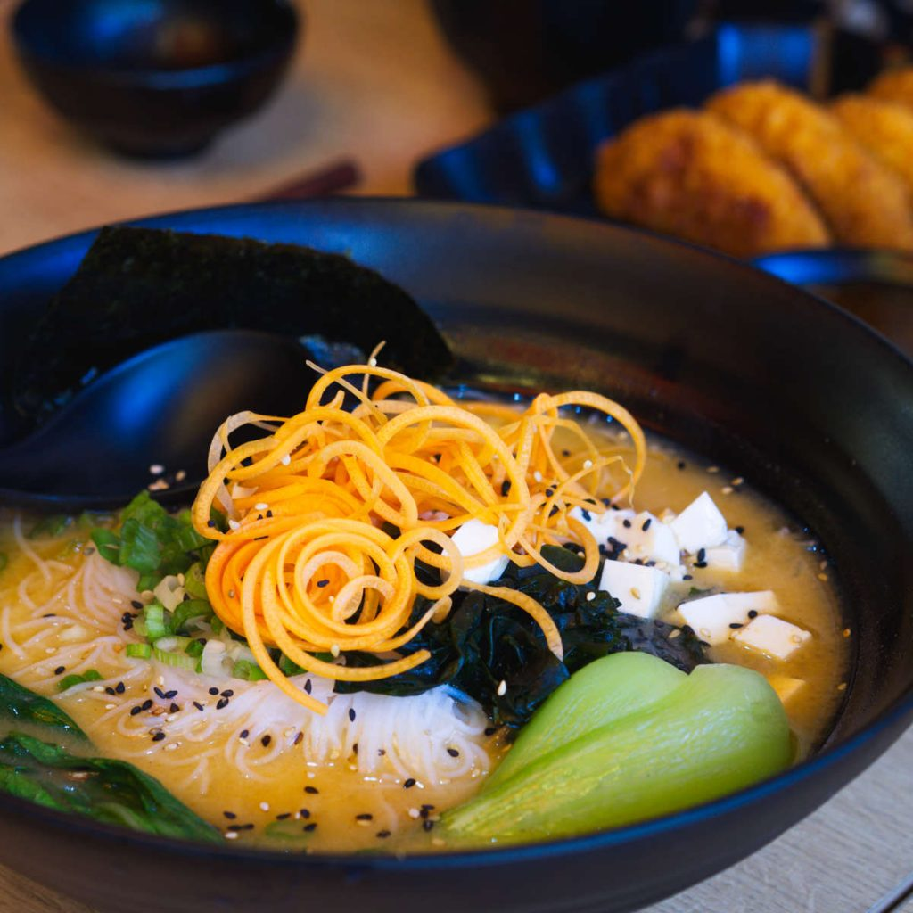 Vegan ramen at Maki Ramen, Edinburgh