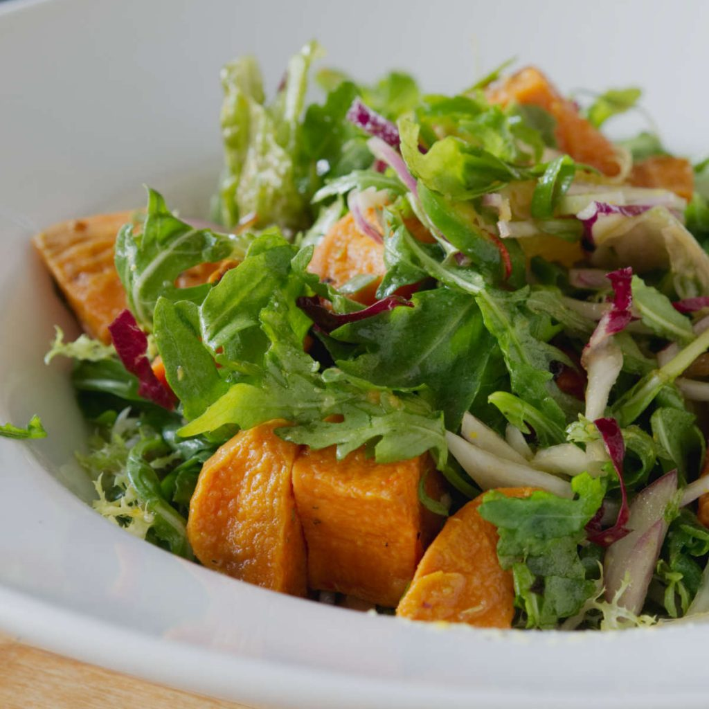 Sweet potato salad at Akva, Edinburgh