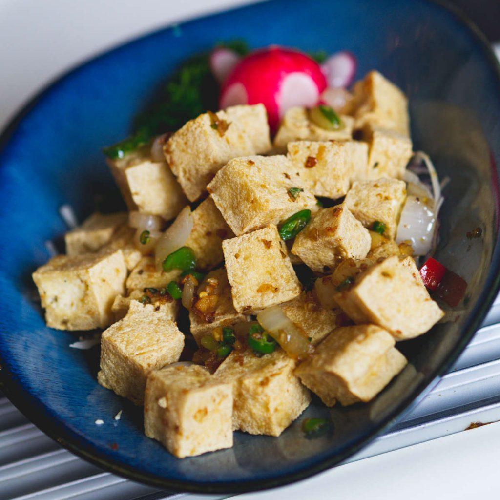 Vegan salt chilli tofu at Chinese Manor House, Edinburgh