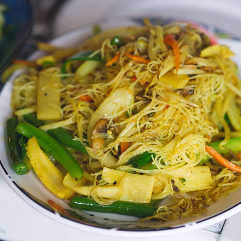 Vegan Singapore Noodles at Chinese Manor House, Edinburgh