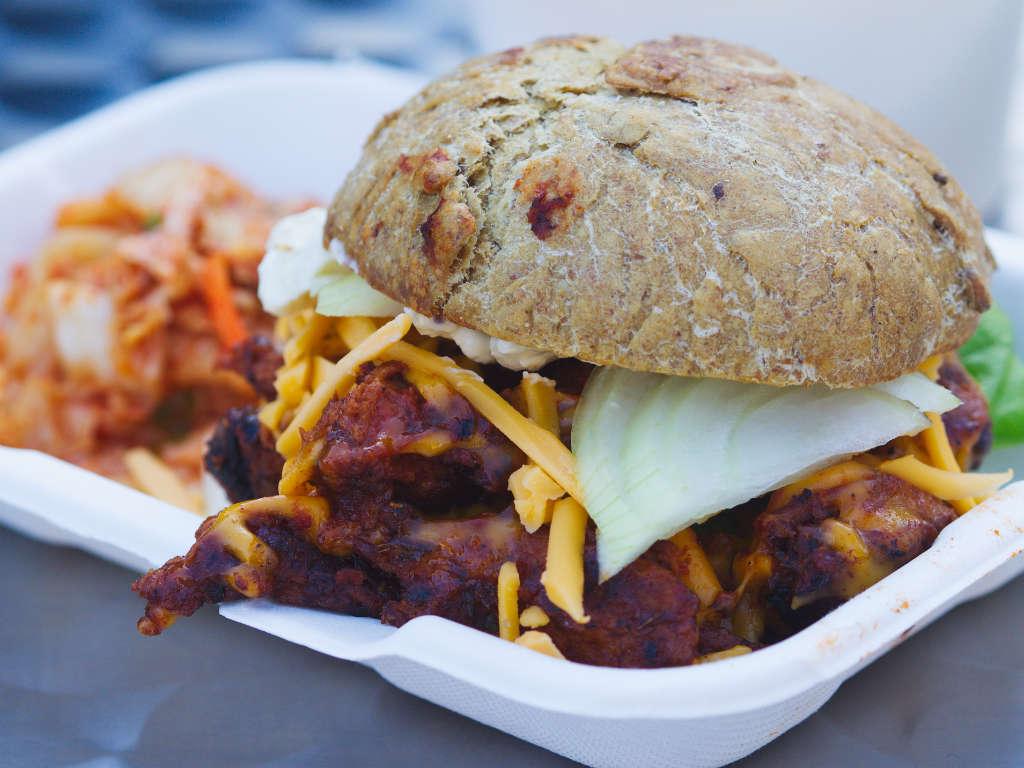 Vegan satan burger by the Sly Fox at Leith Vegan Quarter, Edinburgh
