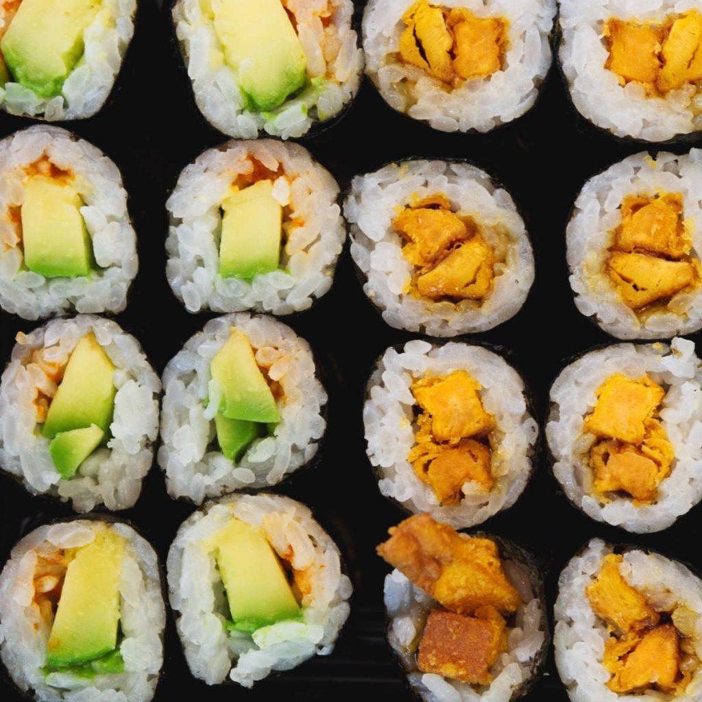 Vegan sushi at Soul Sushi, Edinburgh