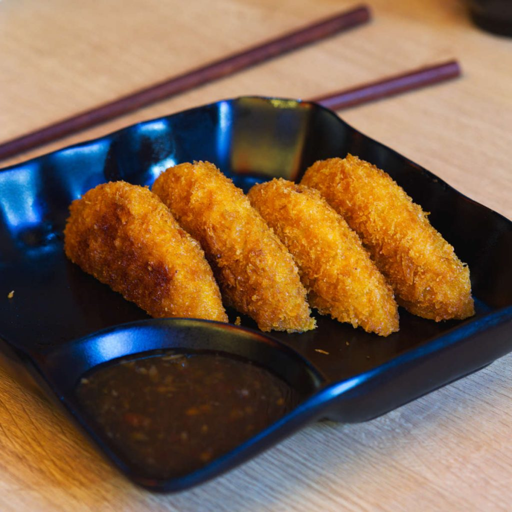 Vegan sweet potato croquettes at Maki Ramen, Edinburgh