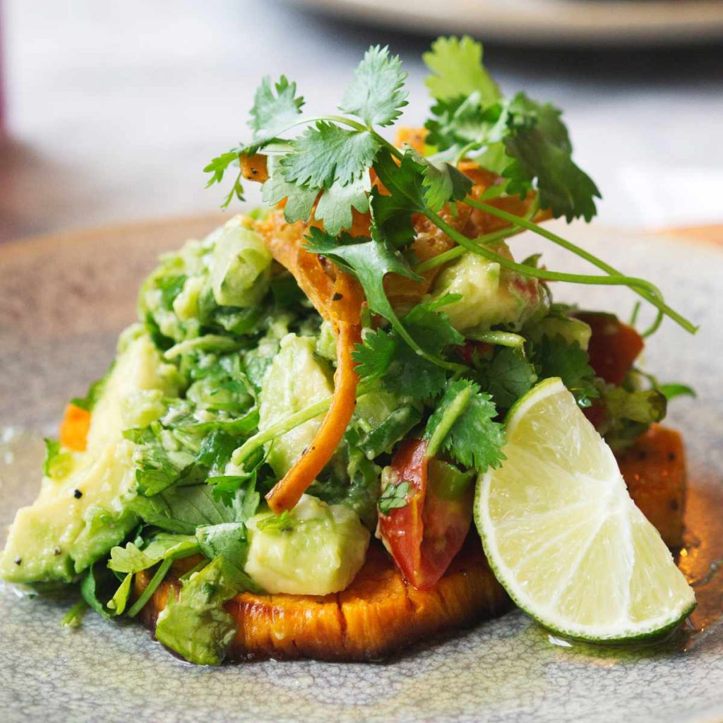 Vegan sweet potato salad at Herringbone Goldenacre, Edinburgh