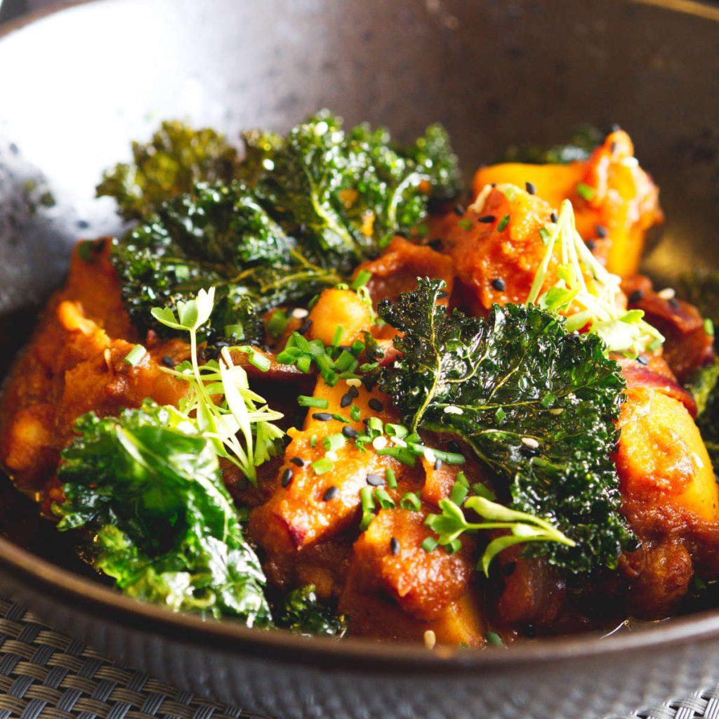 Vegan tagine at Chez Mal, Malmaison, Edinburgh