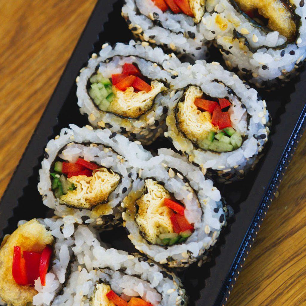 Vegan teriyaki roll at Soul Sushi, Edinburgh