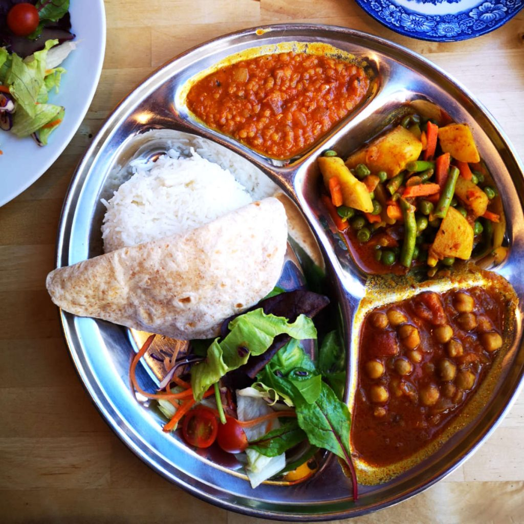 Vegan thali at Himalaya Centre, Edinburgh