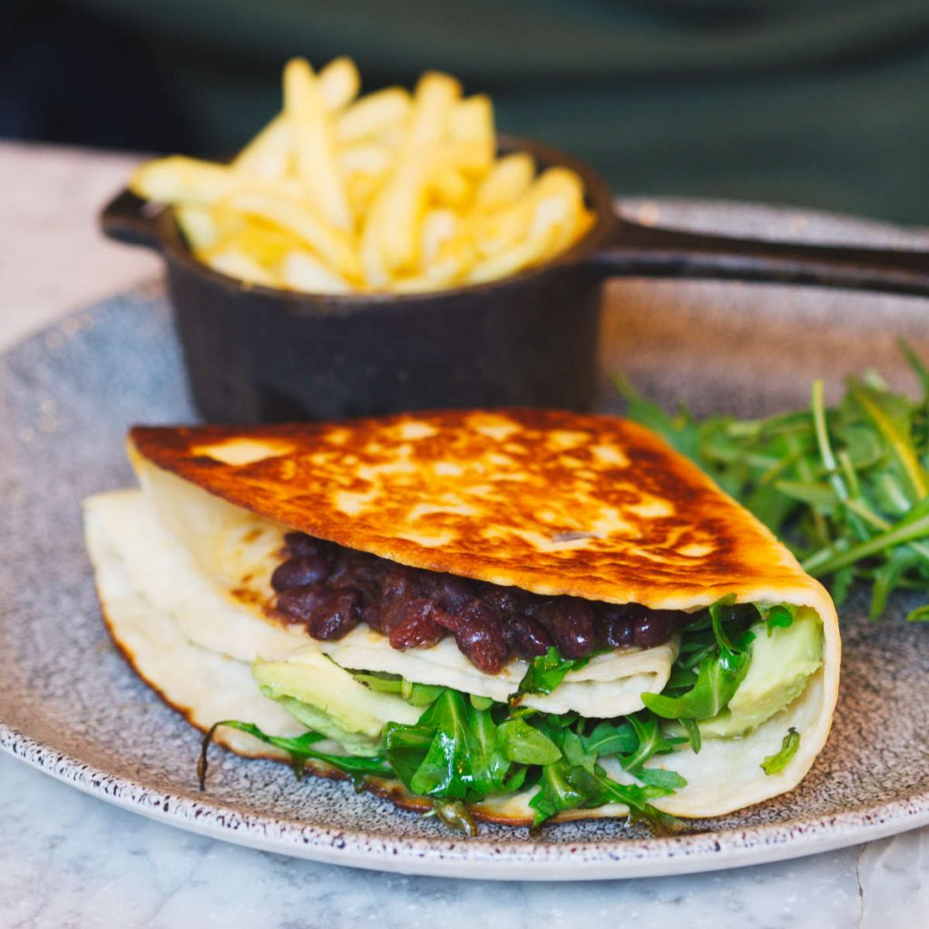 Vegan tortilla at Rabble, Edinburgh