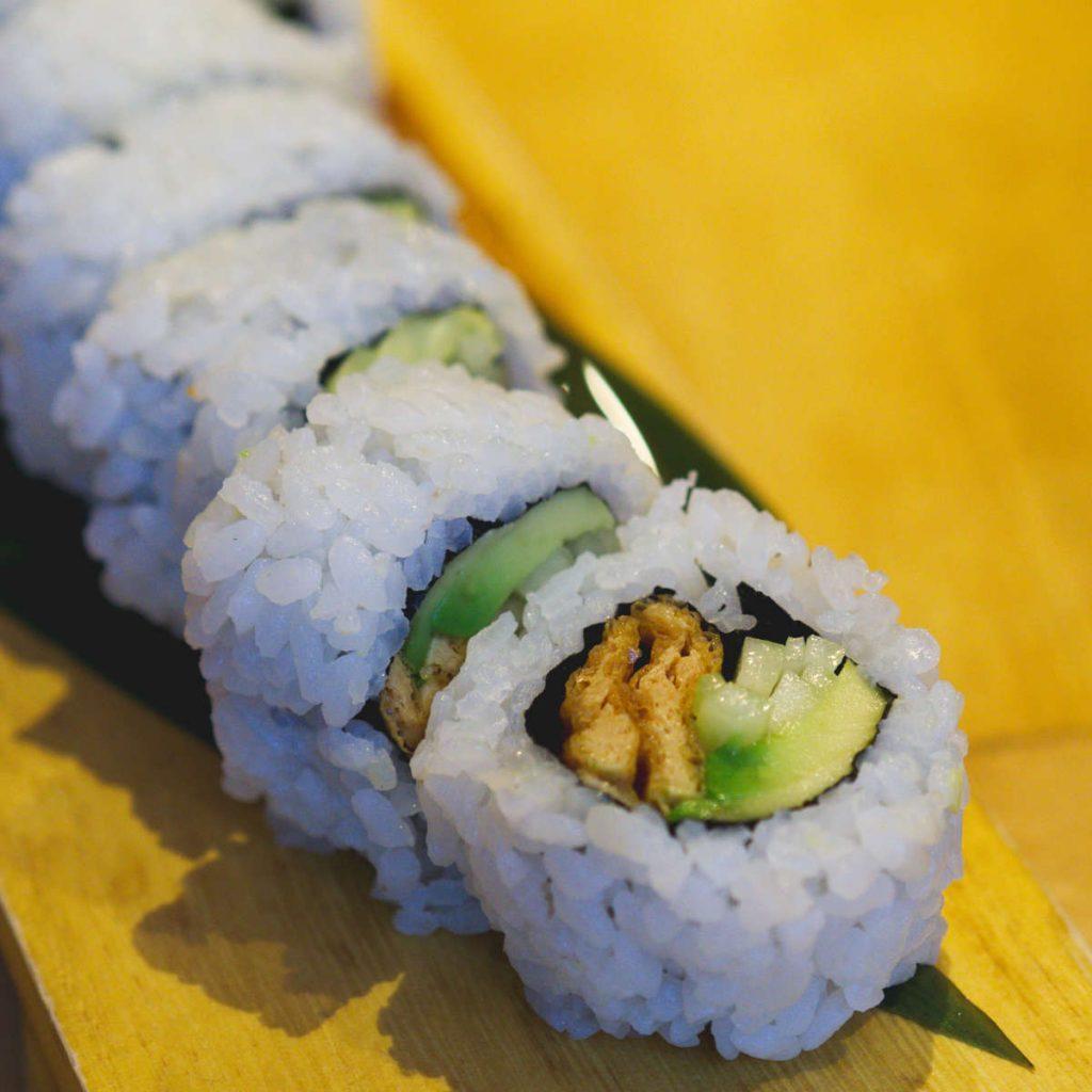 Vegan sushi roll at Maki Ramen, Edinburgh