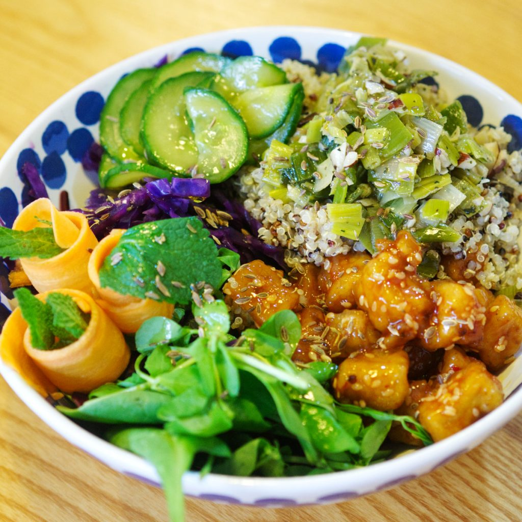 Vegan Buddha Bowl at Bites and Leaves, Edinburgh