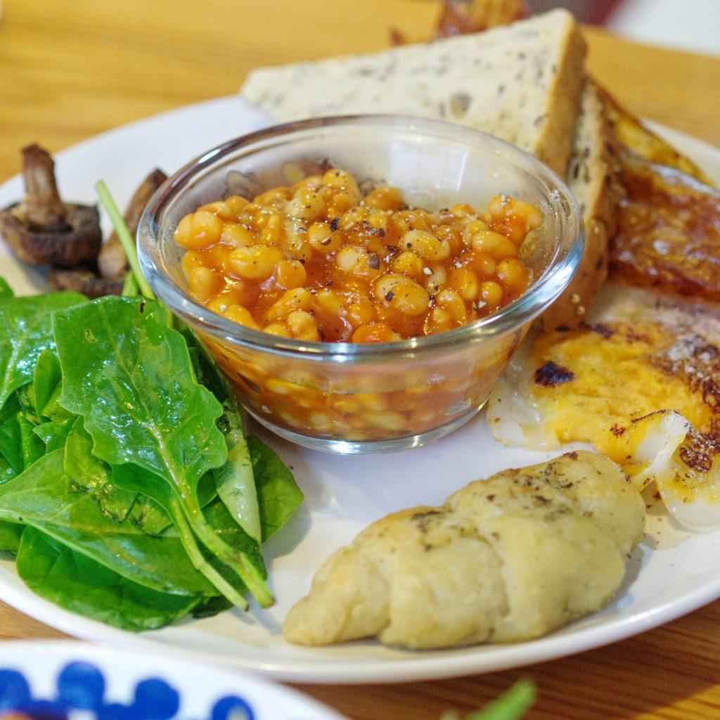 Full vegan breakfast at Bites and Leaves, Edinburgh
