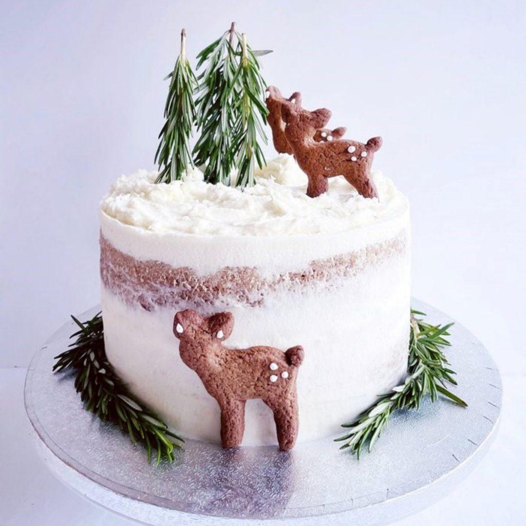 Christmas cake by Naked Bakery