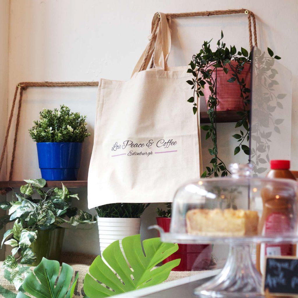 Love Peace and Coffee bag