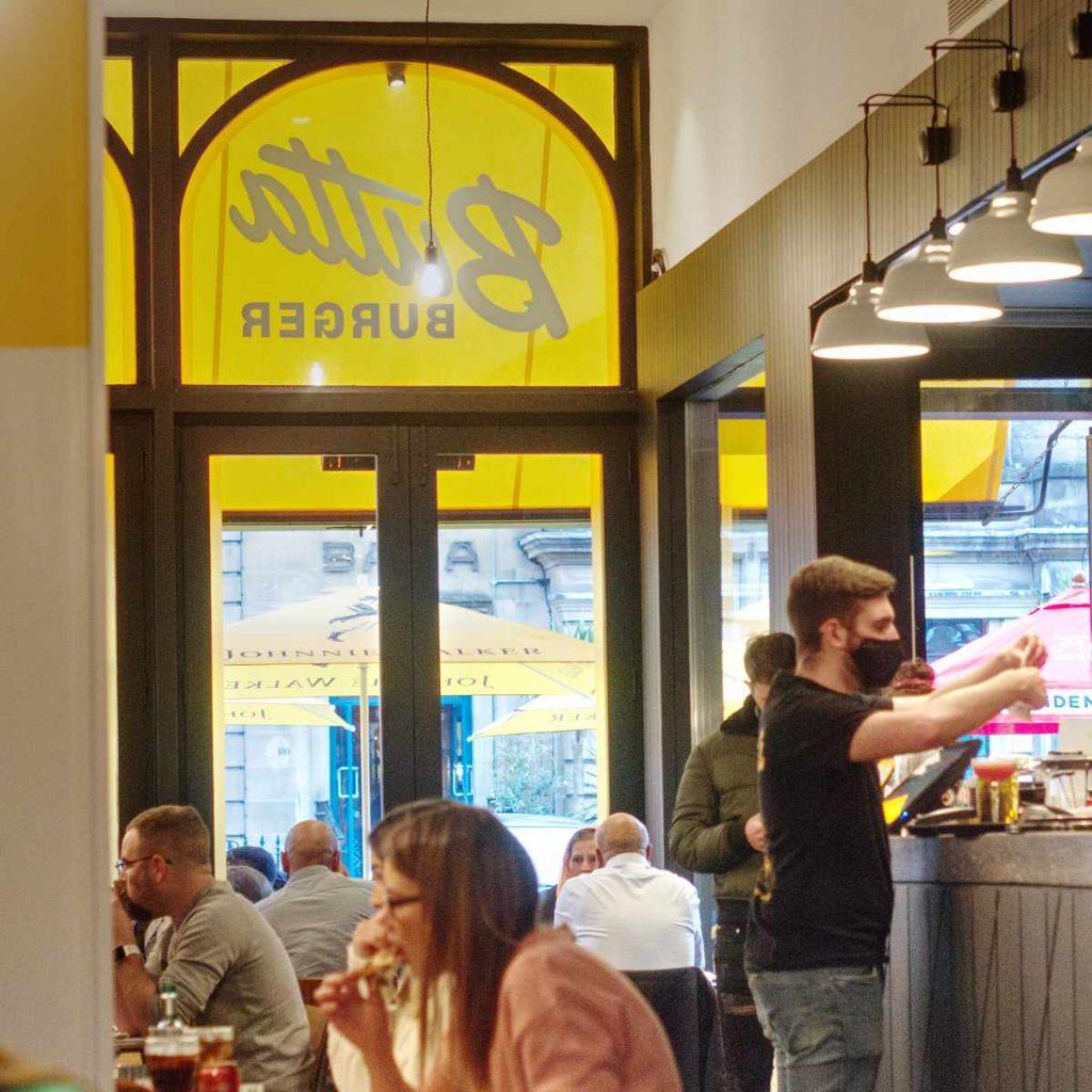 Inside Butta Burger, Edinburgh