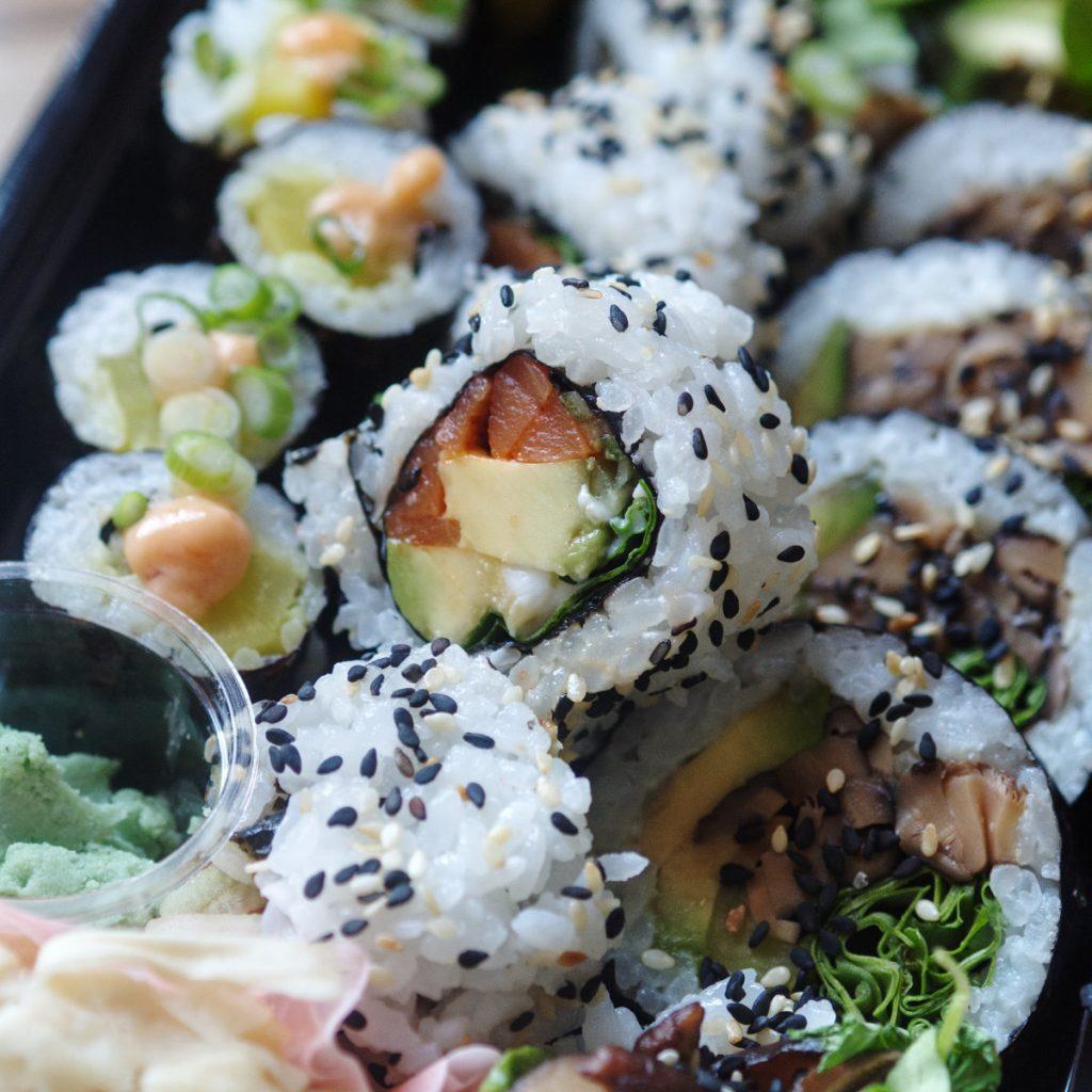 Vegan sushi by Kama's Comfort food