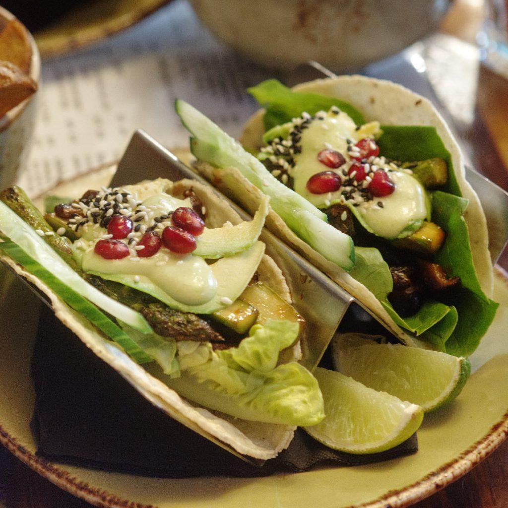 Vegan tacos at The Safari Lounge, Edinburgh